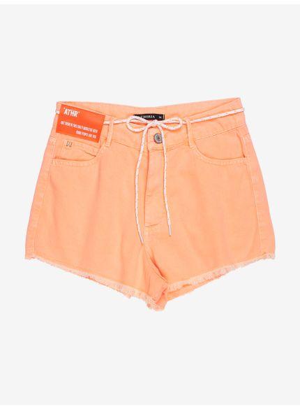 shorts laranja barra desfiada com cadarco t6998 still