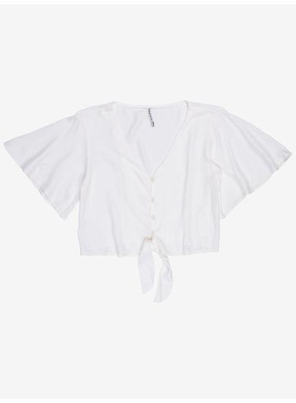 camisa feminina branca com amarracao t7140 still