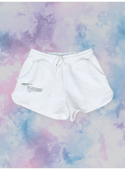 shorts customizavel tie dye de moletom branco t7584 still