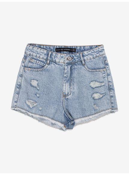 shorts jeans barra desfiada com rasgos t7026 still