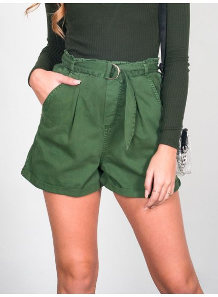 Shorts Clochard Verde Militar Authoria T6651