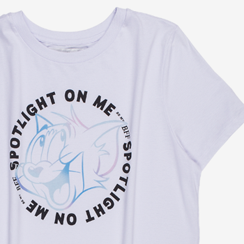 Camiseta Tom e Jerry Feminina Branca t7255