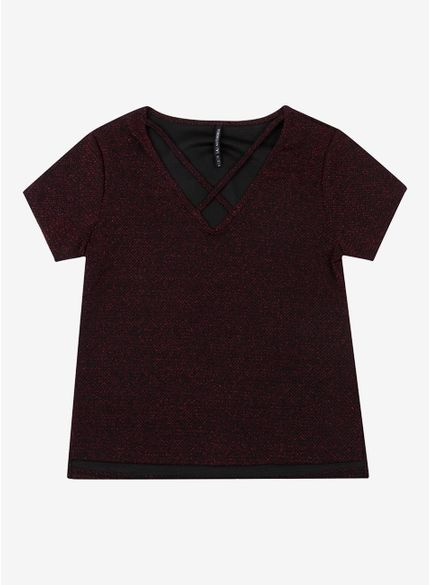 blusa juvenil brilho com tiras no decote t6924 still