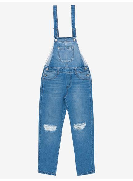 jardineira jeans juvenil feminina authoria t6665 still