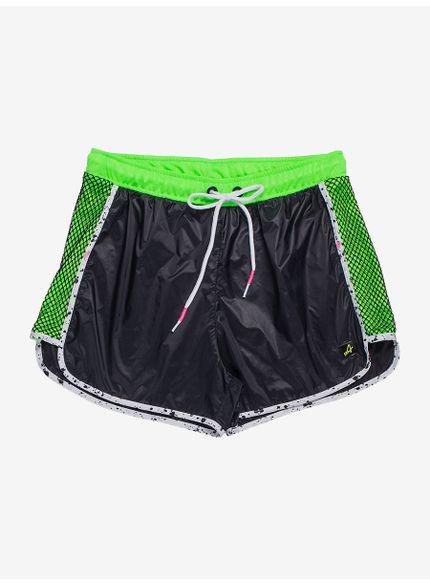 shorts esportivo feminino juvenil verde neon v0026