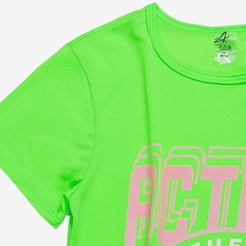 blusa cropped esportivo juvenil feminino verde neon v0029 malha