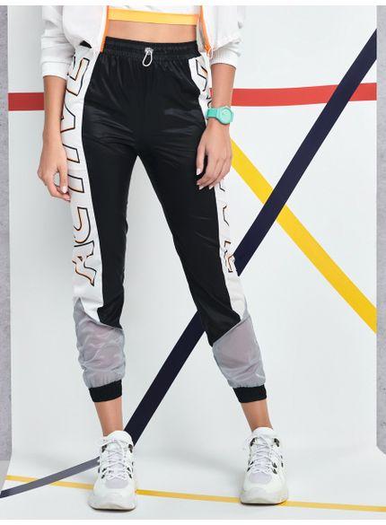calca jogger active recorte lateral preta v0012