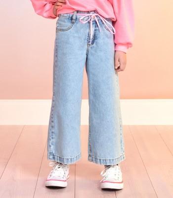 Calca Jeans Pantalona Infantil Feminina Momi F9322