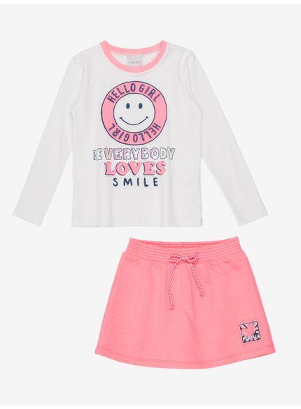 conjunto infantil feminino manga longa smile momi still