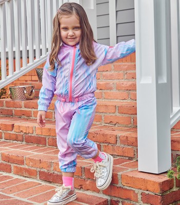 Agasalho Infantil Feminino Tie Dye momi conceito detalhe