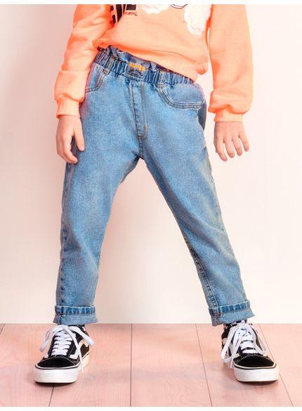 calca jeans infantil feminina clochard momi
