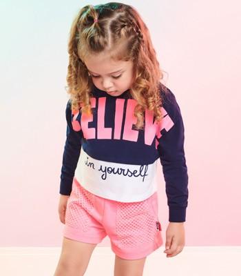 Conjunto Infantil Menina de Moletom Believe Momi J3858