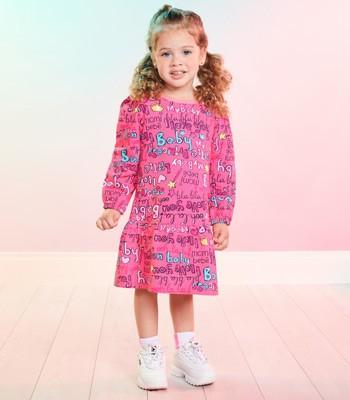 vestido infantil rosa recorte gode momi j3741