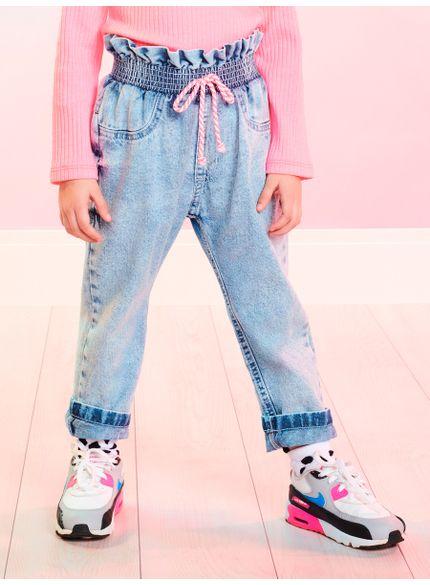 calca infantil menina jeans clochard momi