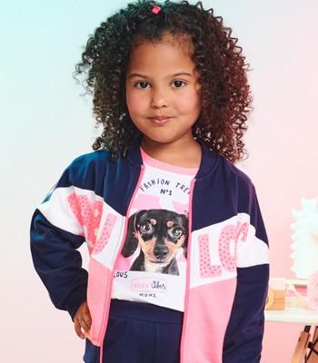 blusa infantil menina estampa dog branca momi j3474