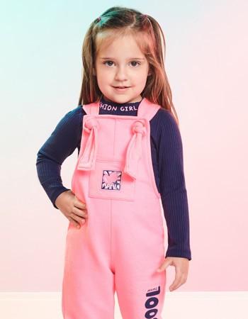 Blusa Infantil Feminina Gola Alta Marinho Girls Fashion J3646