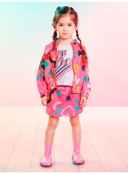 conjunto infantil menina de moletom the future momi