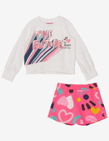 Conjunto Infantil Menina de Moletom The Future Momi J3702