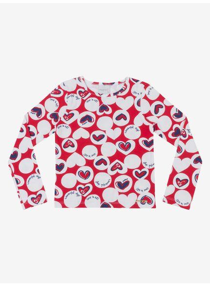 blusa infantil estampa coracao momi