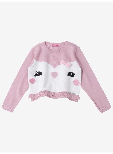 casaco infantil feminino rosa momi