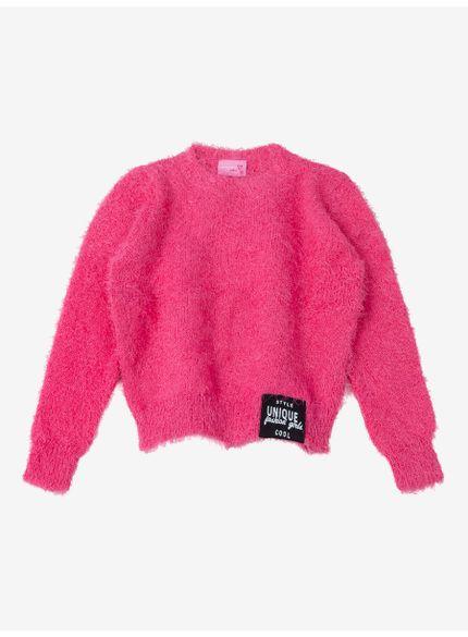 casaco fluffly infantil menina rosa momi