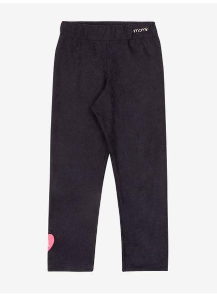 calca infantil menina preta com aplicacao patch momi