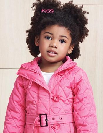 Jaqueta Doudoune Infantil Menina Rosa Momi detalhe