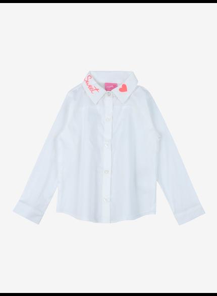 camisa social infantil feminina branca momi