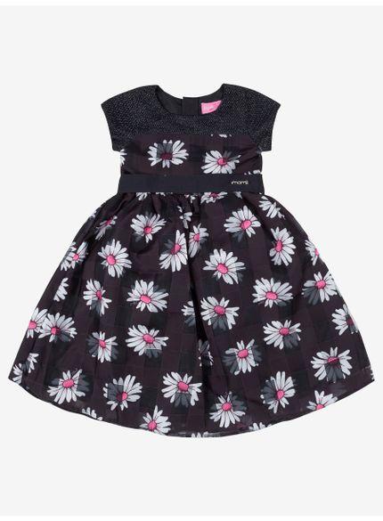 vestido floral infantil feminino preto momi