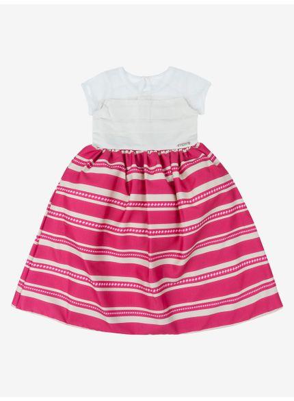 vestido infantil listrado momi