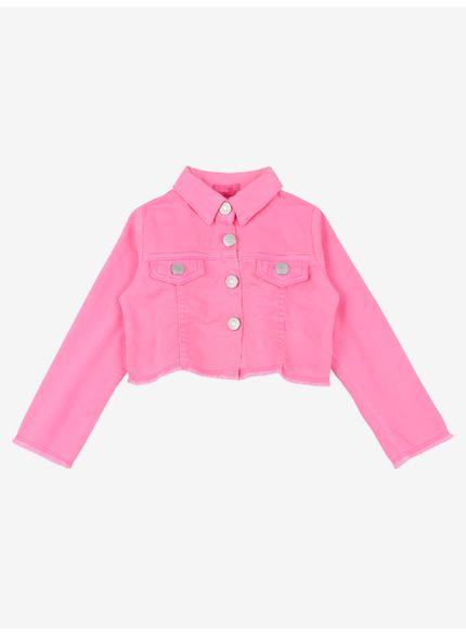 jaqueta infantil menina rosa neon momi