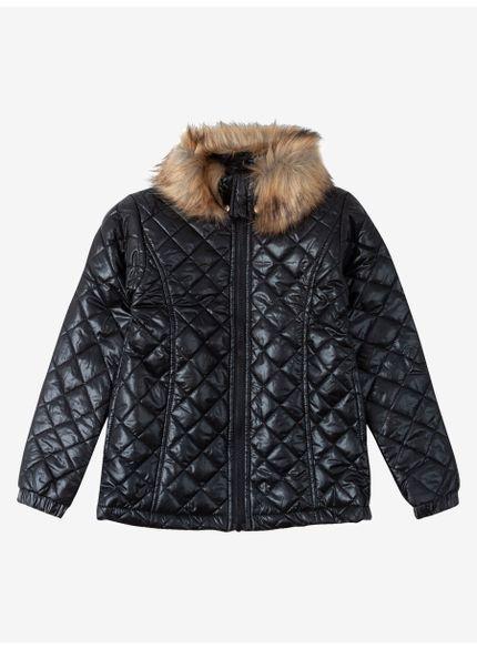 jaqueta infantil doudoune preta momi
