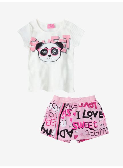 conjunto panda infantil feminino momi