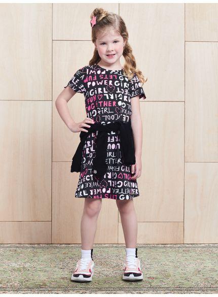 vestido infantil feminino estampado momi