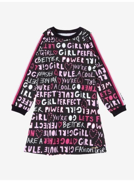 vestido infantil feminino estampado momi frente