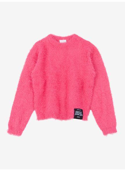 casaco infantil feminino fluffy rosa momi