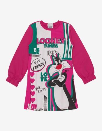 Vestido de Moletom Feminino Rosa frajola Momi F9477