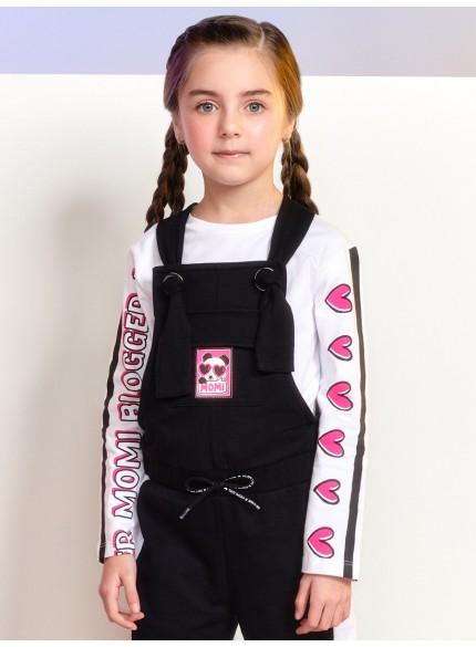 blusa de manga longa branca infantil feminina blogger momi