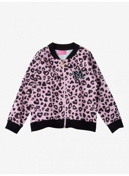 jaqueta bomber infantil menina onca rosa momi