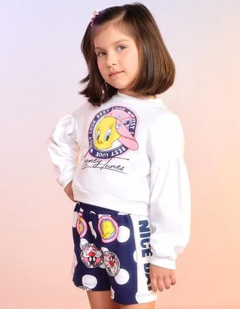 Conjunto Infantil Feminino de Poa Piu Piu e Frajola F9832