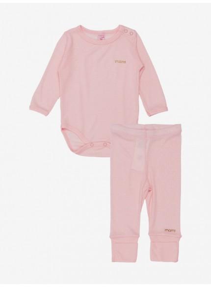 conjunto body bebe menina rose momi